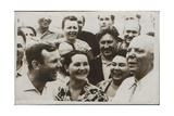 Russian Cosmonaut Yuri Gagarin with His Wife  1962