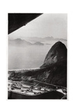 Aerial View of Sugarloaf Mountain  Rio De Janeiro  Brazil  from a Zeppelin  1930