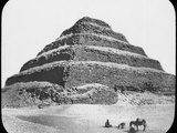 Stepped Pyramid of King Djoser  Saqqara  Egypt  C1890