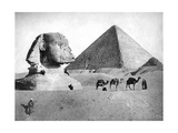 The Sphinx and Pyramid at Giza  Egypt  C1882