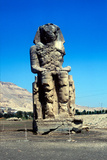 One of the Colossi of Memnon  Near the Valley of the Kings  Egypt  14th Century Bc