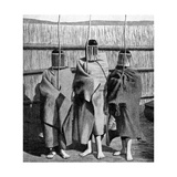 Basuto Girl Brides During a Period of Initiation into the Adult Tribal Society  Lesotho  1922