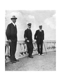 King George I of Greece with Commodore Keppel and Lord Howe  Corfu  Greece  1908