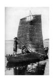 A Reed Balsa Sailing Vessel  Bolivia  1922