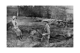 Lady Elizabeth Bowes-Lyon and the Duke of York at Her Hertfordshire Home Near Welwyn  1923