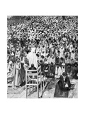 Pious Moslems Gathered at the 'Durbar of God  Mecca  Saudi Arabia  1922