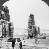 Colossal 'Memnon' Statues at Thebes  Egypt  1905