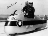 Wilhelm Noll on a 500cc Bmw Motorcycle  1955