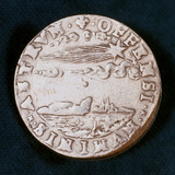 Obverse of a Medal Commemorating the Bright Comet of 1577