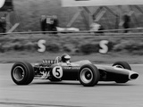 Jim Clark Driving the Lotus 49 at the British Grand Prix  Silverstone  1967