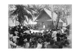Parliament at Hongo  Florida  Solomon Island  1892