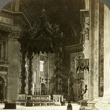 The Great Altar with its Baldachin  St Peter's Basilica  Rome  Italy