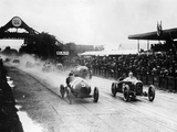 Competitors in the French Grand Prix  Strasbourg  1922