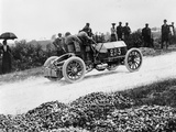 Mercedes 60 Hp Climbing a Hill on the Paris-Madrid Race  1903