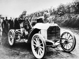 Camille Jenatzy in His 60 Hp Mercedes  Winner of the Gordon Bennett Race  Athy  Ireland  1903