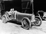 Kenelm Lee Guinness and Perkins with an 8 Cylinder Sunbeam  1922