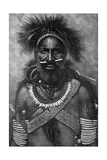 Captain of a Company of Cannibal Fighting Men  New Guinea  1922