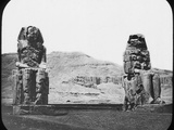 Colossi of Memnon  Luxor (Thebe)  Egypt  C1890