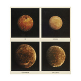 Four Moons of Jupiter Io  Europa  Ganymede and Callisto  1979
