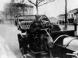 Lord Northcliffe at the Wheel of a 1908 135 Hp Mercedes  (C1908)