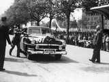 Paul Frere in a Chrysler Saloon V8  in the Mille Miglia  1953