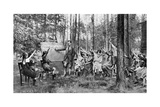 Children Taking English Lessons in the Forest of Charlottenburg  Berlin  Germany  1922
