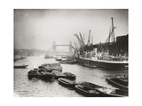 View of the Busy Thames Looking Towards Tower Bridge  London  C1920