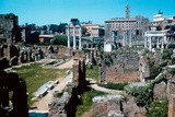 Ruins of the Forum  Rome with the House of the Vestals on the Left
