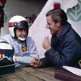Jackie Stewart and Graham Hill Chatting  Monaco Grand Prix  Monte Carlo  1966