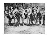 A Donkey Ride on a Bank Holiday on Hamstead Heath  London  1926-1927