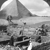 Ruins of the Granite Temple  the Sphinx and Great Pyramid  Egypt  1905