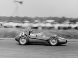 Peter Collins in a Ferrari Dino  British Grand Prix  Silverstone  1958
