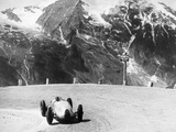 Hermann Muller in an Auto Union  German Mountain Grand Prix  Grossglockner  Austria  1939