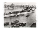 Ship and Boats on the River Thames  London  C1913