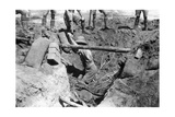 A Collapsed British Dugout  Mesopotamia  WWI  1918