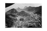 Aerial View of Rio De Janeiro  Brazil  from a Zeppelin  1930