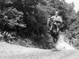 Bsa Motorbike Competing in the Motocross Des Nations  1952