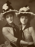 Two Roses'; Maude Millett and Annie Hughes  British Actresses  1888
