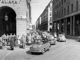 Fiat 600 Multipla Leading a Procession of Fiats  Italy  (Late 1950S)
