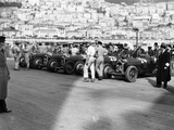 A Line of Alfa Romeos at the Monaco Grand Prix  1934
