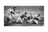 England Scoring a Try Against Scotland  Twickenham  London  1926-1927