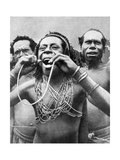 Swallowing Canes in a Ceremonial Ritual  New Guinea  1936