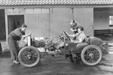 Amherst Villiers and a Mechanic Taking the Revs of a Bugatti Cordon Rouge  C1920S