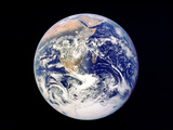 Whole Earth from Space, Viewed from Apollo 17, December 1972 Papier Photo