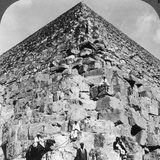Looking Up the Northeast Corner of the Great Pyramid  Egypt  1905