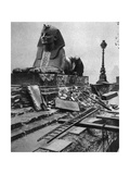 Sphinx Damaged by a German Bomb Dropped on the Embankment  4th September 1917