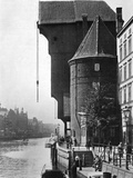 The Old Krantor (Crane Gat) on the River Mottlau  Gdansk  Poland  1926