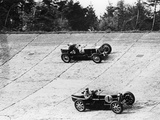 Maserati and Bugatti in Action at Brooklands  Surrey  1933