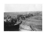 British Troops Unloading Dates on the Shore of the Tigris River  1918