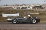Roy Salvadori Driving an Aston Martin DBR4  Dutch Grand Prix  Zandvoort  Holland  1959